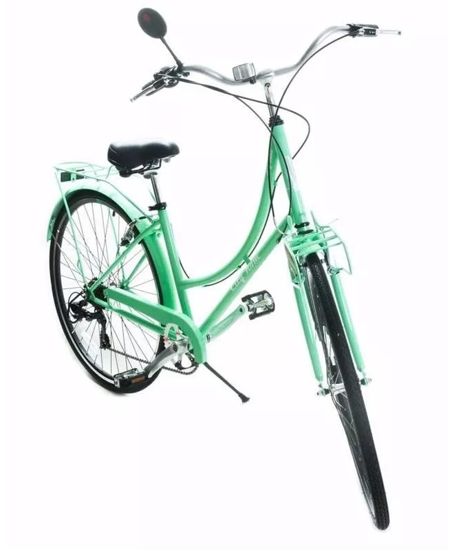 bab78e460 BIKE 700 FEMININA CITY JOY 7V. QUADRO ACO - VERDE